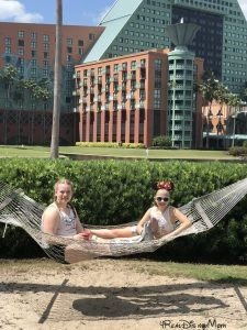 girls in hammock