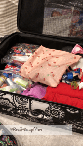 opened packed suitcase-disney trip report