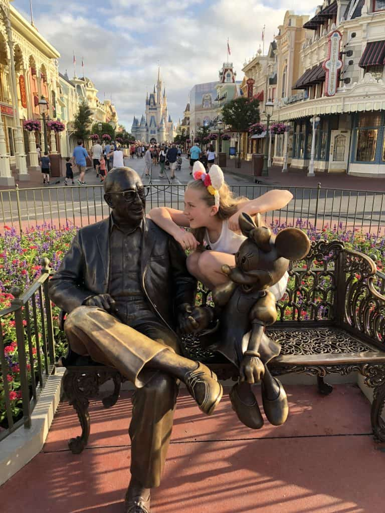Walt Disney bench