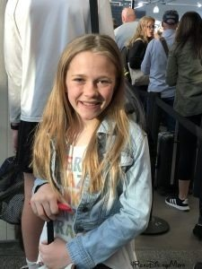 girl standing in airport