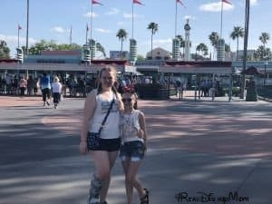 girls standing in front of entrance to Disney's Hollywood Studios-disney trip report