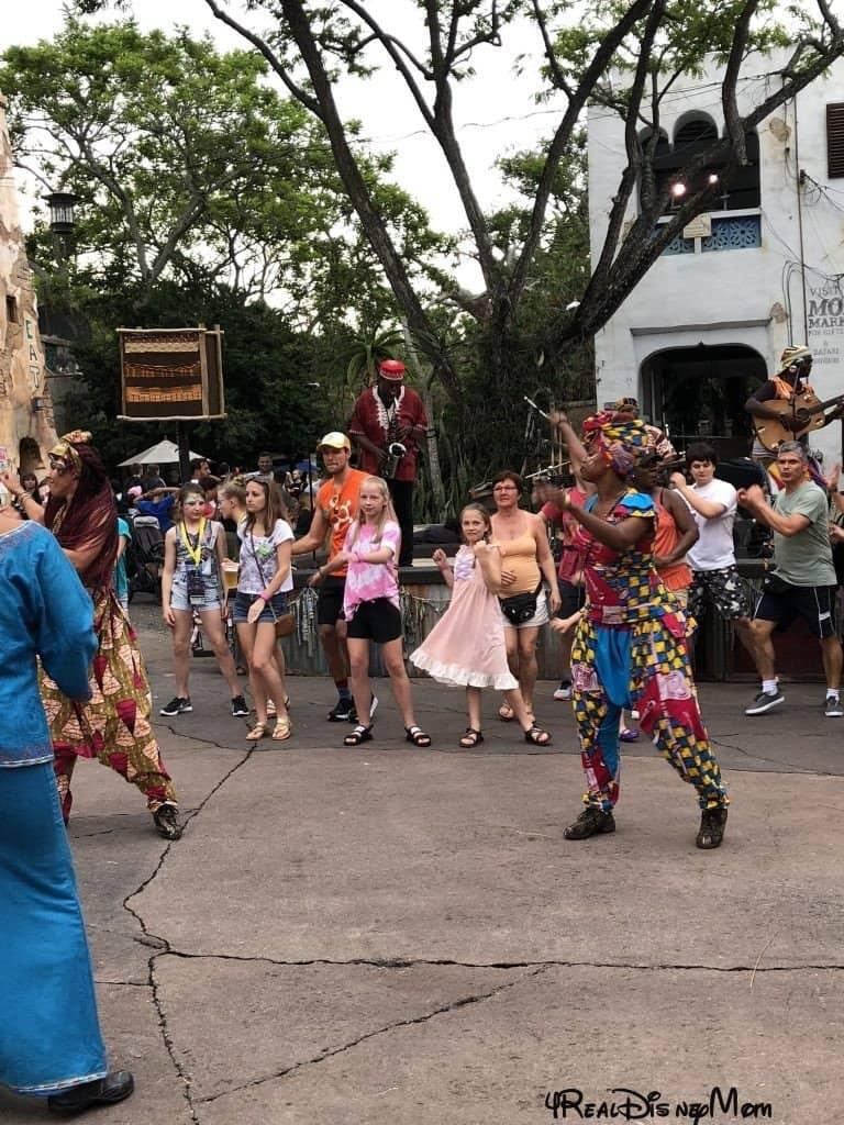 Dancing at Animal Kingdom