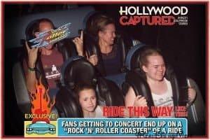 people on Rock'n Roller Coaster