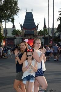 3 girls standing in Disney's Hollywood Studiosl