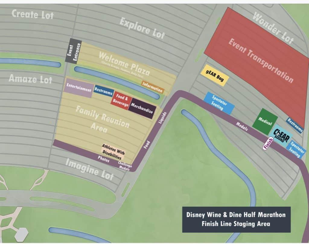 Wine and Dine finish line map