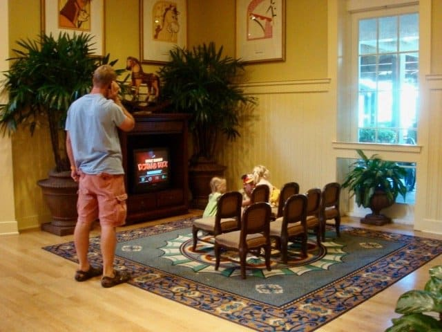 Saratoga Springs resort lobby