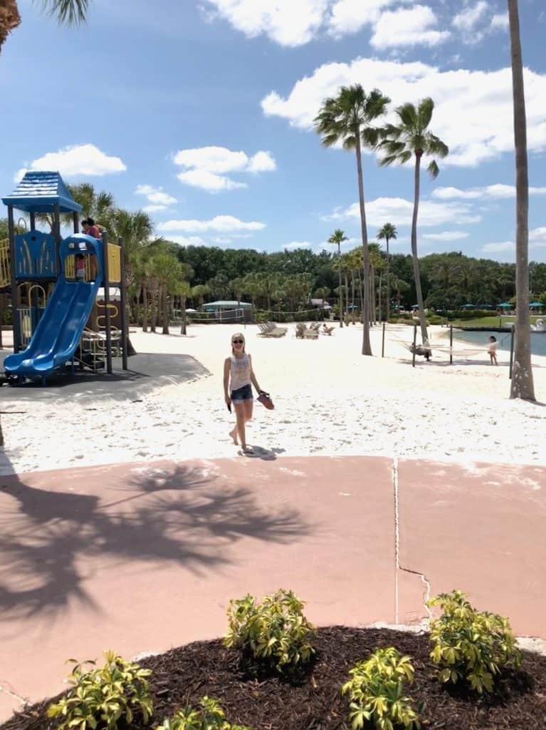 Swan and Dolpin Resort beach and playground