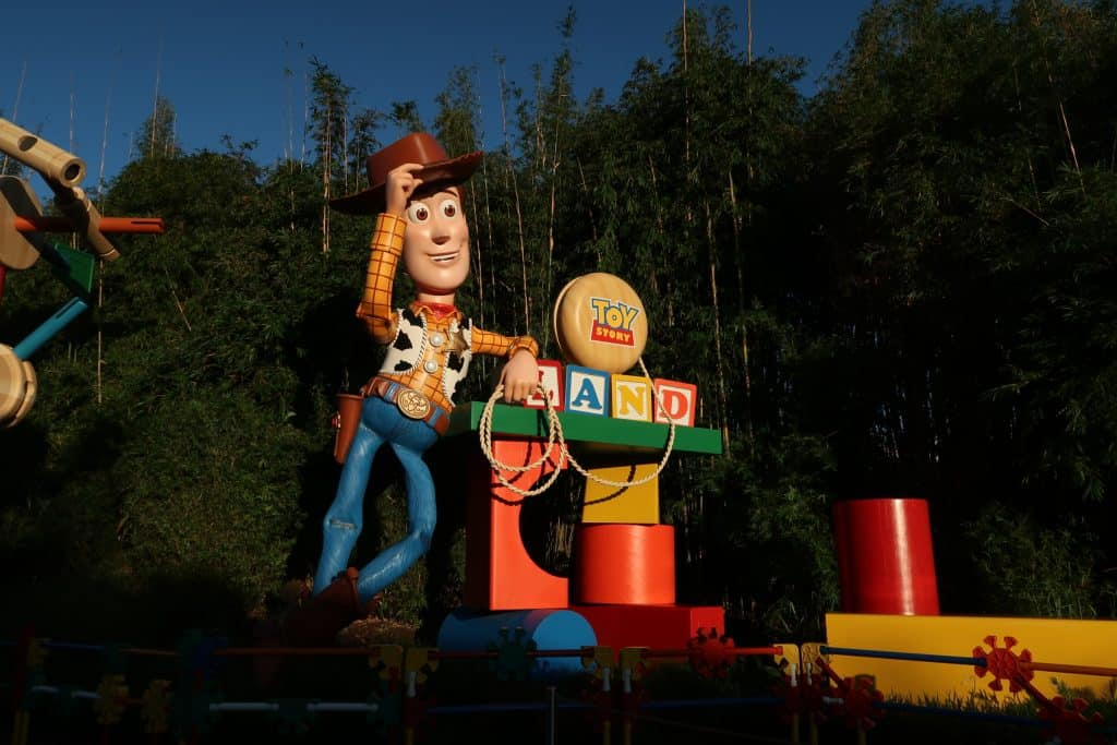 woody in toy story land
